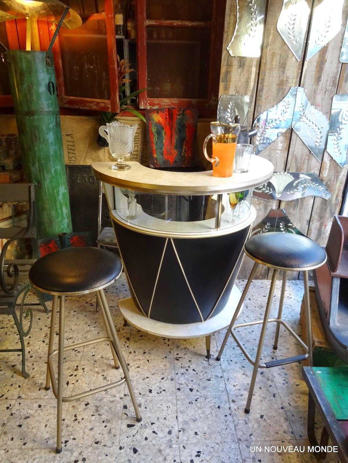 l'atelier de philippe: comptoir, meuble bar années 50 - 60