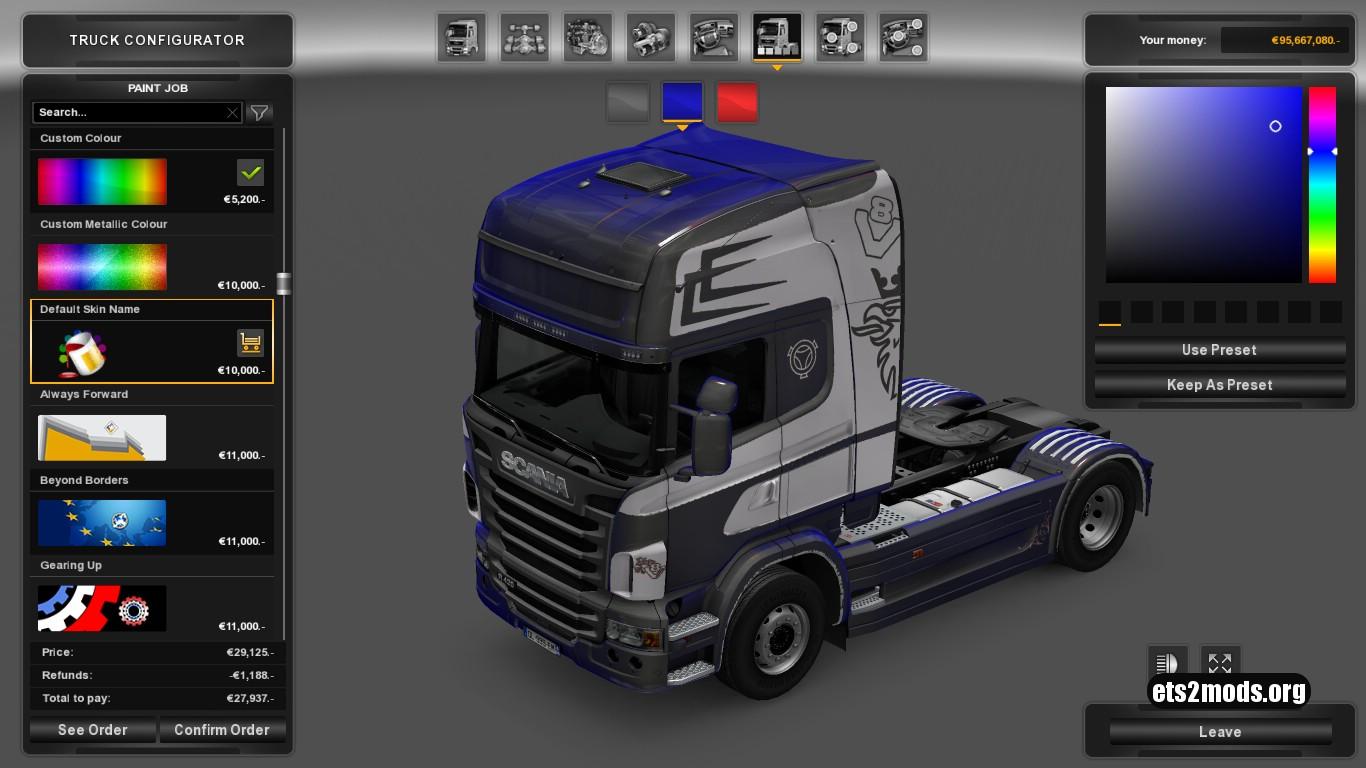 Scania R Metallic Skin