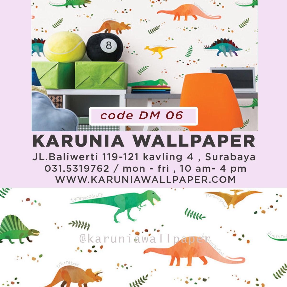 jual wallpaper dinding dinosaurus