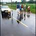 Paço do Lumiar: Motociclista derrapa em pista molhada e adolescente que estava na garupa morre, após carro passar por cima.