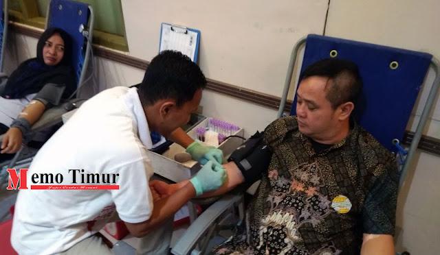 Kegiatan donor darah di PT. Mustikatama