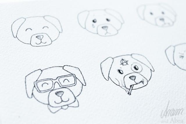 Illustrationen für Hundeblogger - Making Of