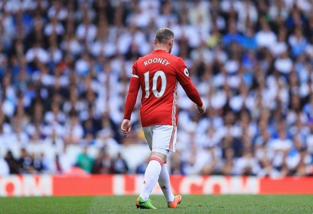 Manchester United legend Wayned Rooney during a Premier League match