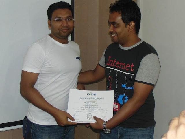 SEO Certificate Masum Billah