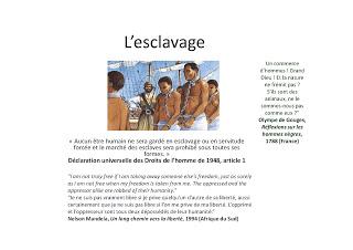 diaporama esclavage