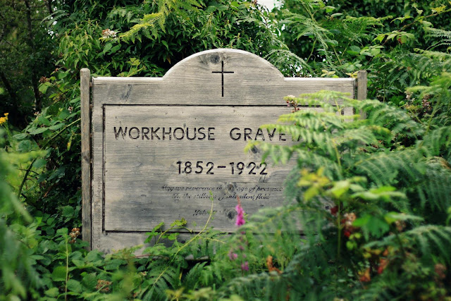a sign for a graveyard