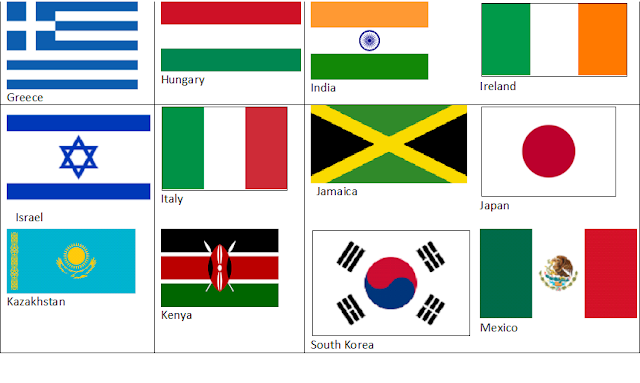 flags of the world printable pdf
