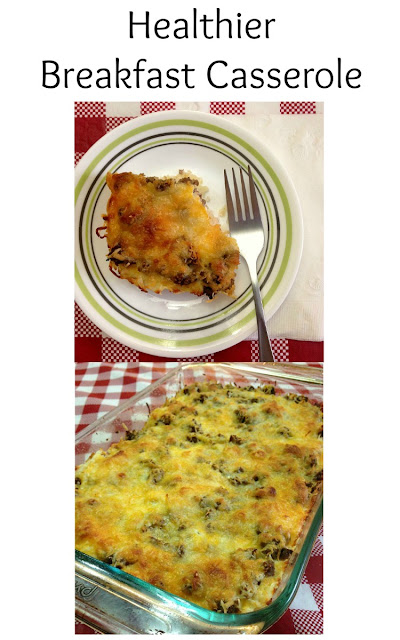 breakfast casserole healthy hash brown cheese turkey sausage vegetables heart-healthy