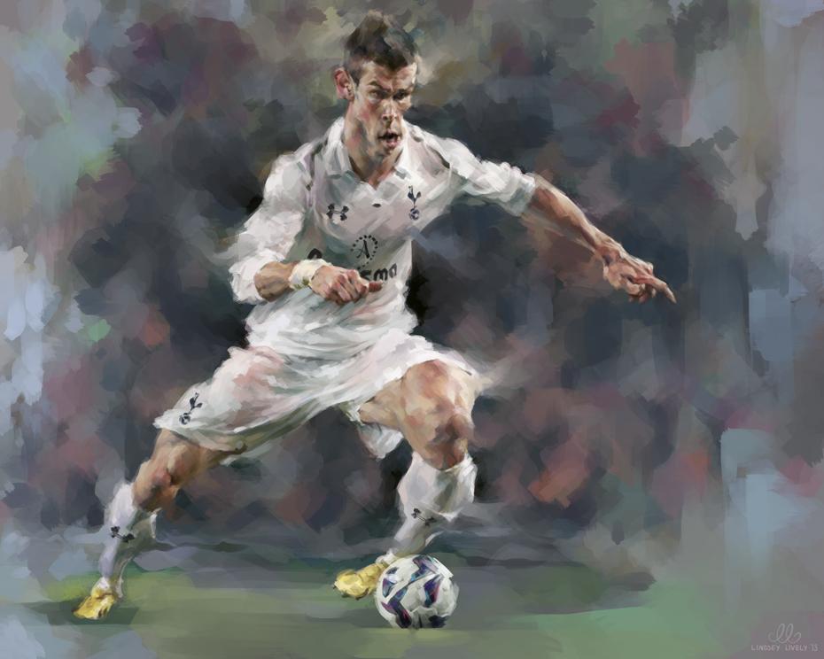 """""""Gareth Bale"""" por Lindsey Lively"""