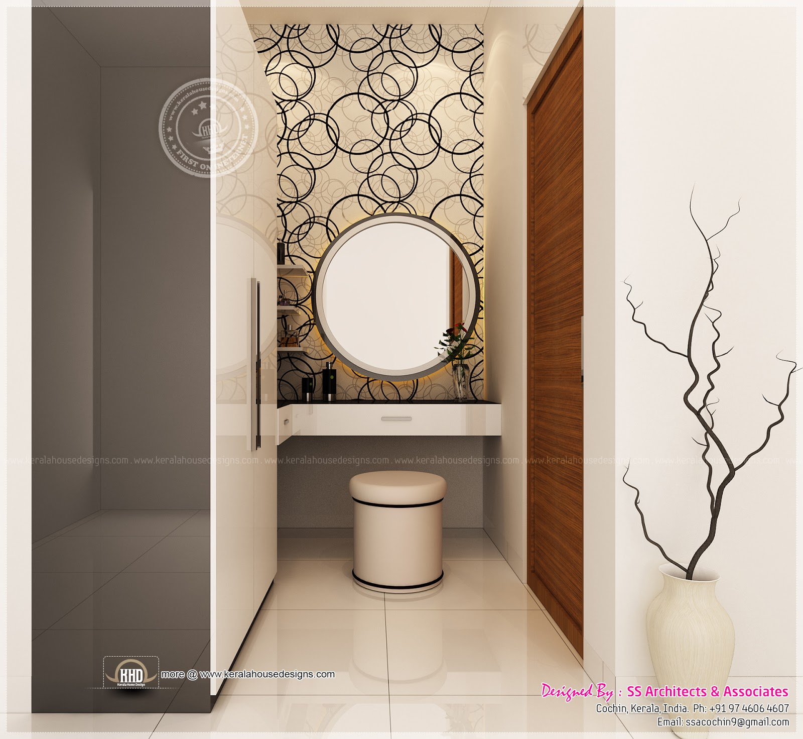 Different dressing table designs by ss architects cochin for Dressing table design 2014
