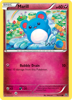 Marill Steam Siege Pokemon Card