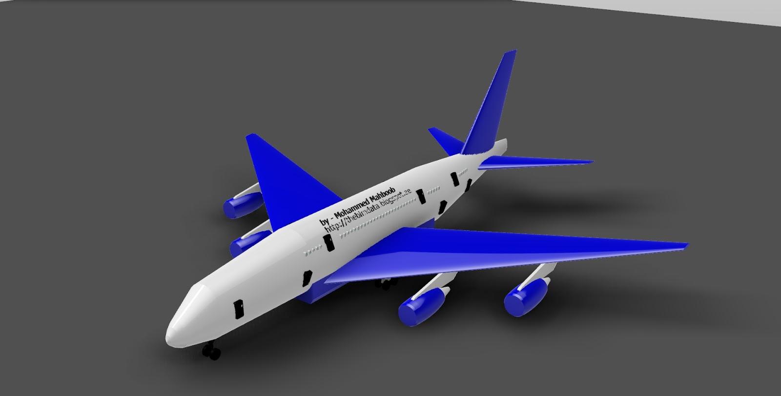 The BIM Data: Revit - Aeroplane 3D Model