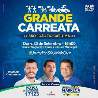 Prefeito Xixico Vieira com apoio do seu grupo político promove neste domingo(23), uma grande carreata em apoio aos seus candidatos