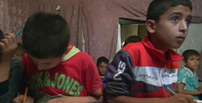 Anak-anak Aleppo Terpaksa Belajar di Ruang Bawah Tanah