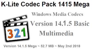 تحميل برنامج الملتيميديا تشغيل الصوت والفيديو K-Lite Codec Pack 1415 Mega للويندوز والأندرويد