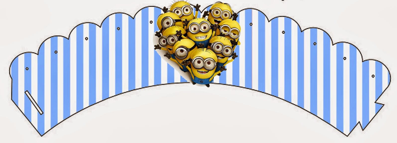 Minions Free Printable Cupcake Wrappers.