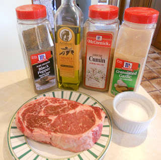 Cumin-rubbed steak with chili-lime butter ingredients