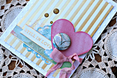 DCWV February 2017 Stack-a-holics Challenge Inspiration featuring Embossed White and Watercolor Stacks designed by Rhonda Van Ginkel
