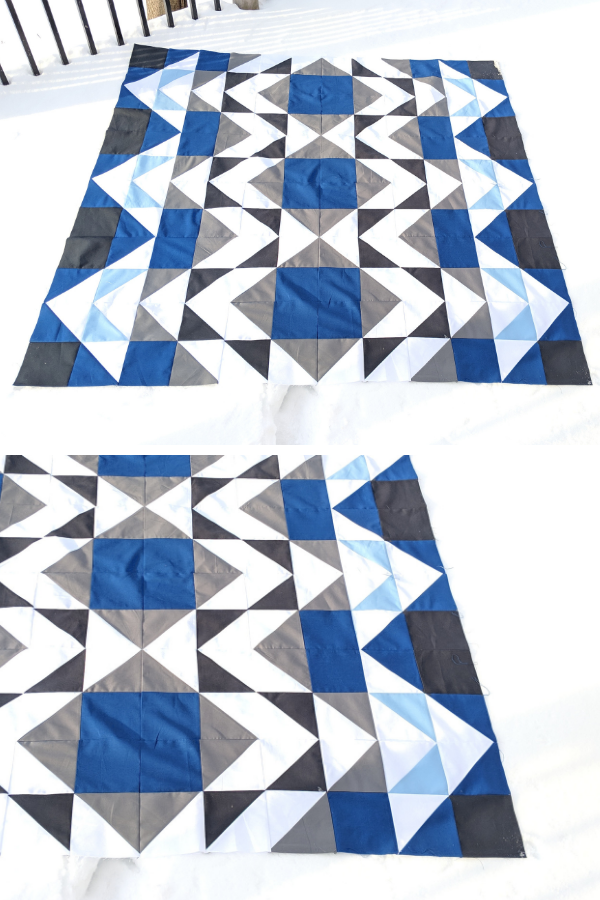 Modern Aztec Quilt made by Frieda Tong | Shannon Fraser Designs