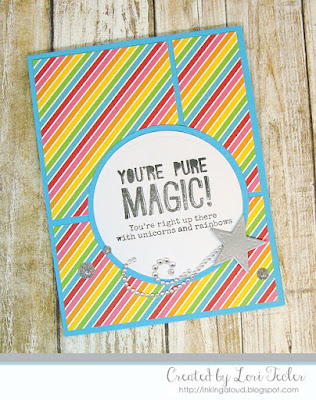 Pure Magic card-designed by Lori Tecler/Inking Aloud-stamps from Ellen Hutson