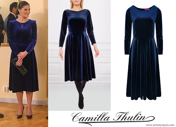 Crown Princess Victoria wore CAMILLA THULIN cherry dress