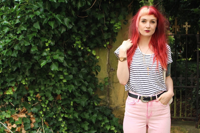 Topshop Pastel Pink Mom Jeans
