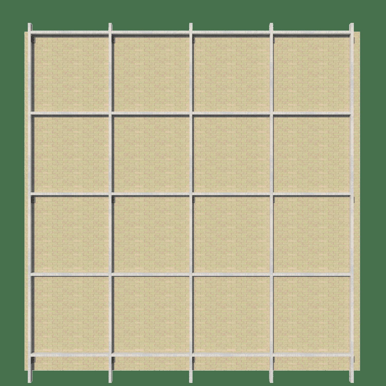 Pemasangan rangka horizontal