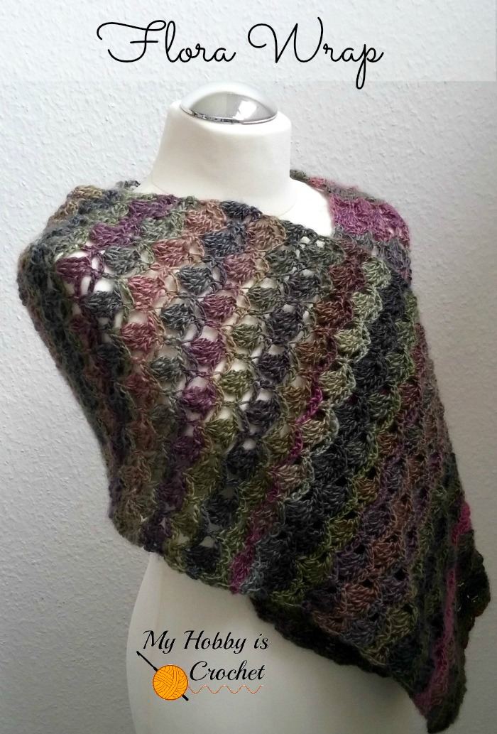 My Hobby Is Crochet The Flora Wrap Shawl Scarf Free Crochet Pattern
