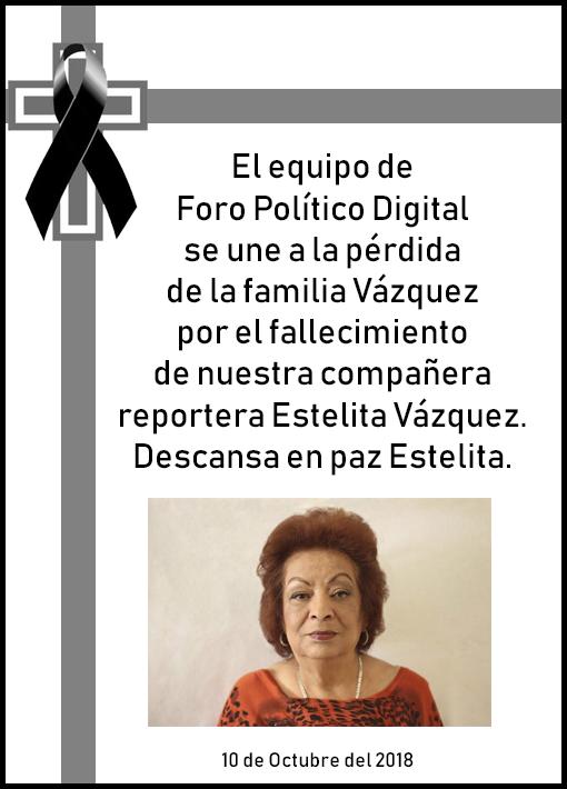 D.E.P. Estela Vázquez