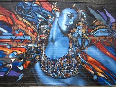 Arte Urbano  colorida mujer