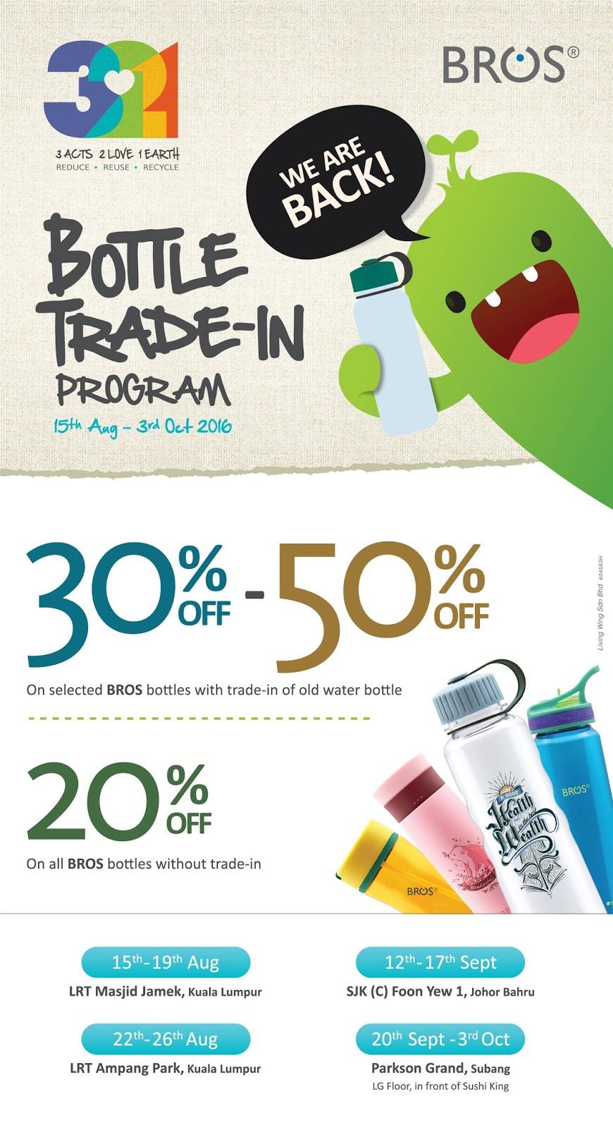 Bestlah Bros 321 Bottle Trade In Program 15 Aug 3 Oct