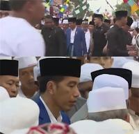 Presiden Jokowi Jadi Rebutan Muslimin Muslimat di Haul Abah Guru Sekumpul Banjar