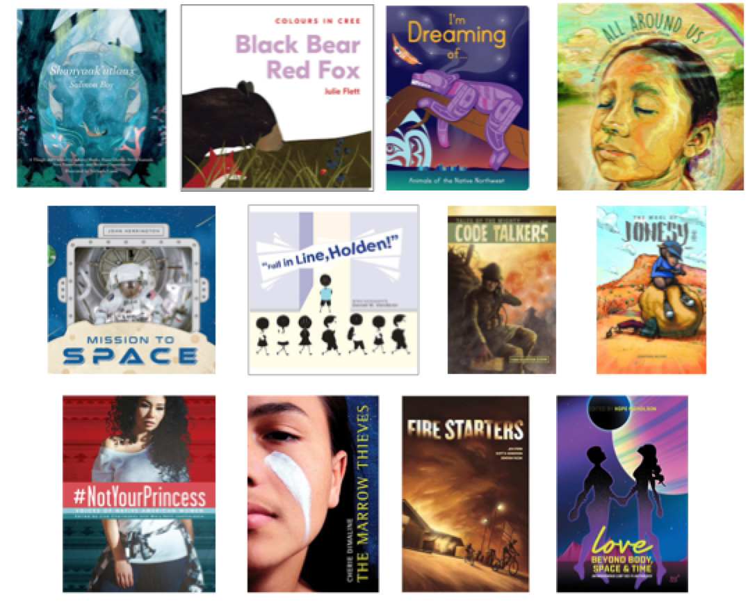 Twelve books, but the creative work of almost 100 different Native people!