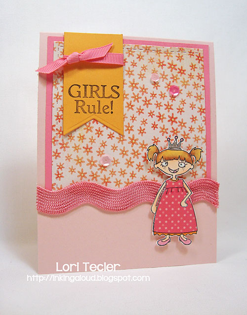 Girls Rule-designed by Lori Tecler/Inking Aloud-stamps from Starving Artistamps