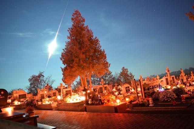 bola de fogo da chuva de meteoros Taurídeas