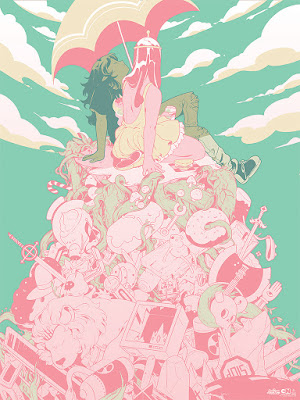 Adventure Time Screen Print by Rosemary Valero O'Connell x Mondo