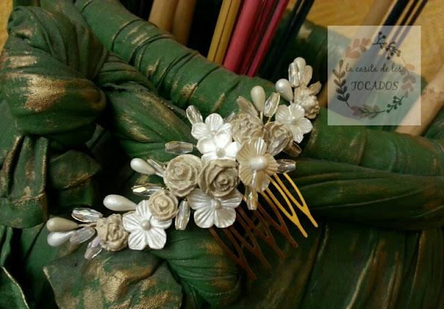 peineta para novia realizada de forma artesanal y totalmente personalizable