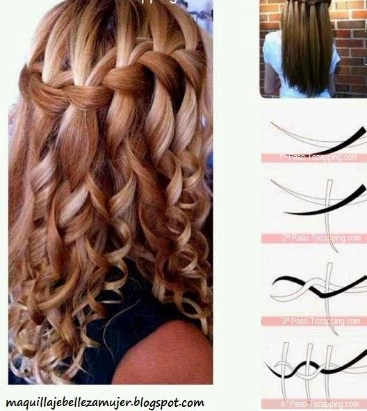 5 Peinados Faciles Y Rapidos Y Bonitos Con Trenzas (P3) Peinado  - Peinados Con Trenzas Faciles