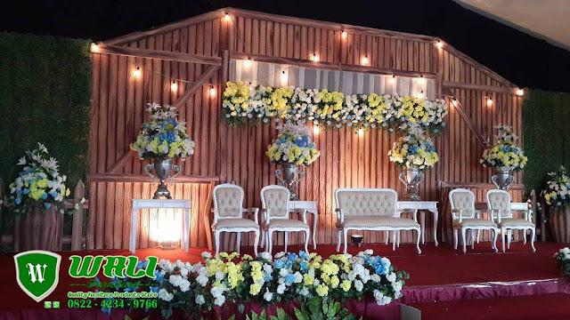 Set Dekorasi Pernikahan Shabby Modern Unik Model Terbaru Furniture Jepara
