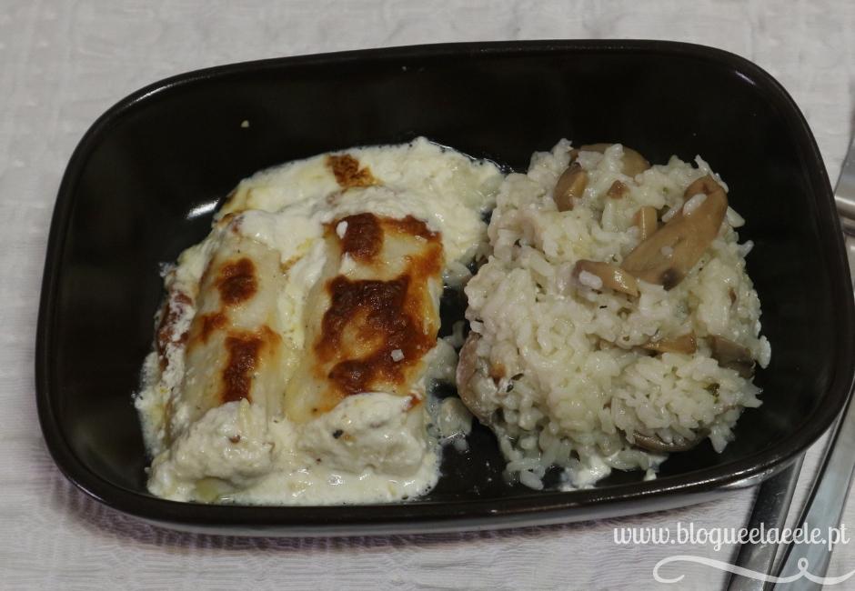 Receita + medalhões de pescada + molho de natas e queijo + vinho branco + limão + blogue português de casal + pedro e telma + blogue ela e ele
