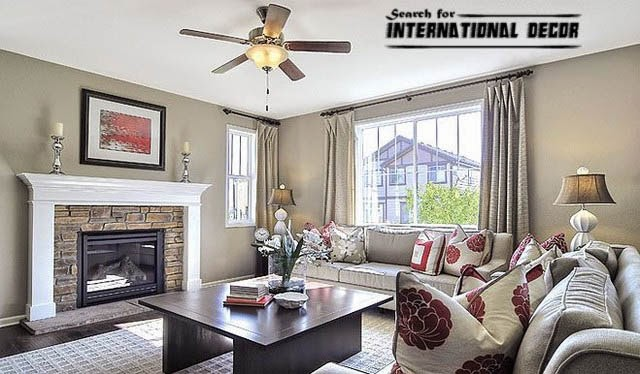 American style in the interior design and houses ...