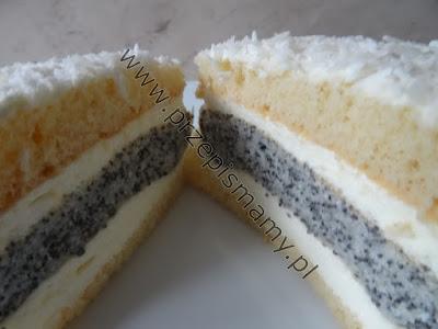 Ciasto z wkładką makową