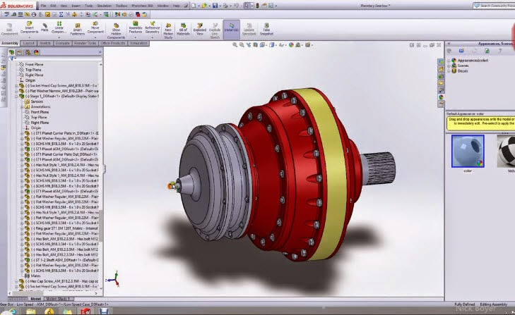 How to make 3D Planetary Gearbox Part & Assembly and