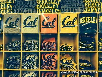t-shirts at Cal Student Store in Berkeley, California