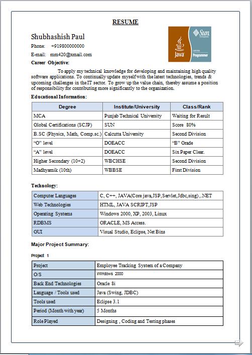 Resume Sap Abap London Jobs Sample