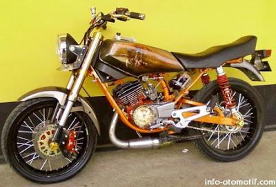 dari yamaha rx king hasil modifikasi modifikasi motor yamaha rx king