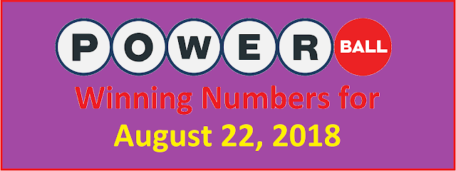 PowerBall Winning Numbers for Wednesday, 22 August 2018