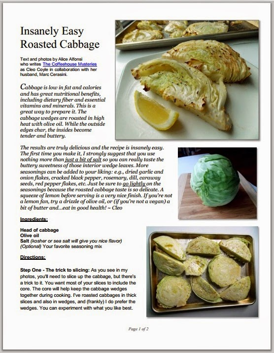 Cleo coyle recipes alone in the kitchen with a cabbage an roasted cabbage pdf cover cleo coyleg forumfinder Image collections