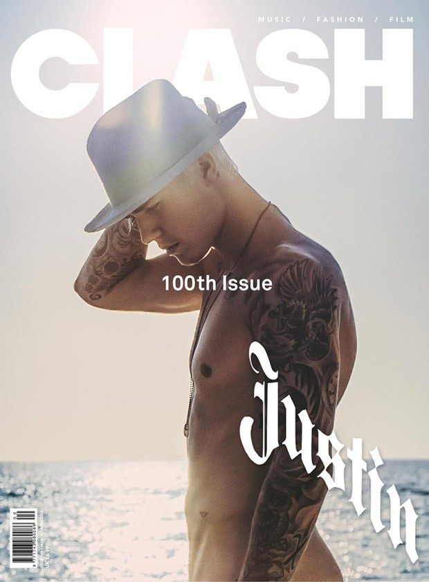 Justin Bieber Covers Clash Magazine #100