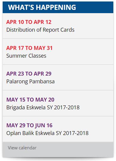 Deped School Calendar For Sy 2017 2018 Deped Tambayan Ph